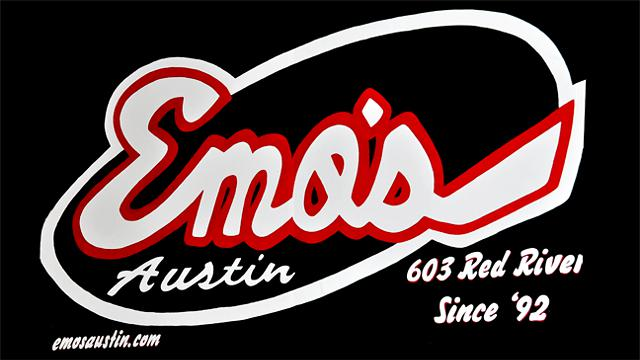 Emos - 2015 East Riverside Drive Austin  Texas 78741 - Ph 512 505-8541