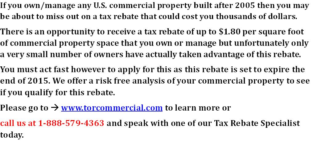 Commercial properties owners have you heard of Energy Policy Act section 179D