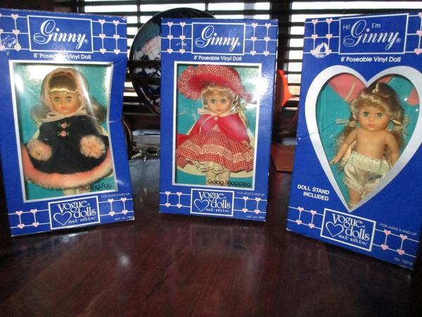 Vintage Lot of 3 Ginny Vogue Dolls -   x0024 120  Penelope