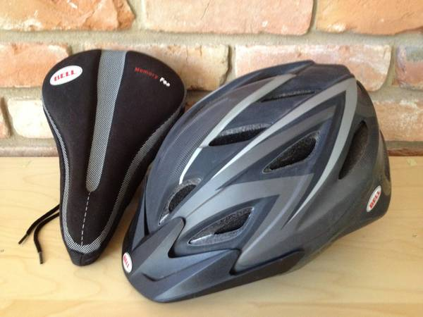 BELL BICYCLE SEAT AND HELMET -   x0024 20  CHINA SPRING