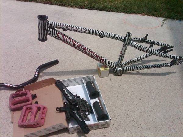 BMX RACER INTENSE ZEBRA MICRO MINI BIKE FRAME - $65