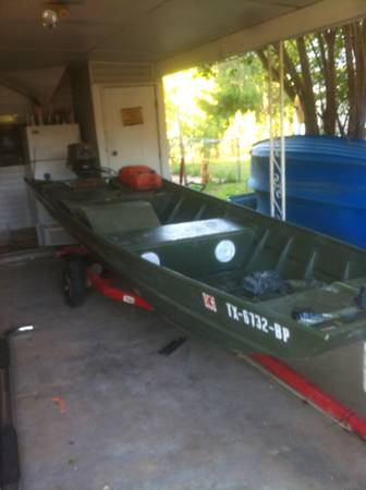 Jon Boat Bowfishing boat - $2100 (Clifton)