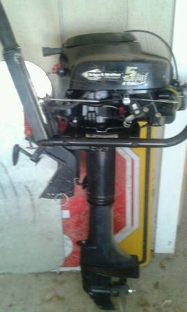 Briggs and stratton 5 hp boat motor for sale for Briggs and stratton outboard motors for sale