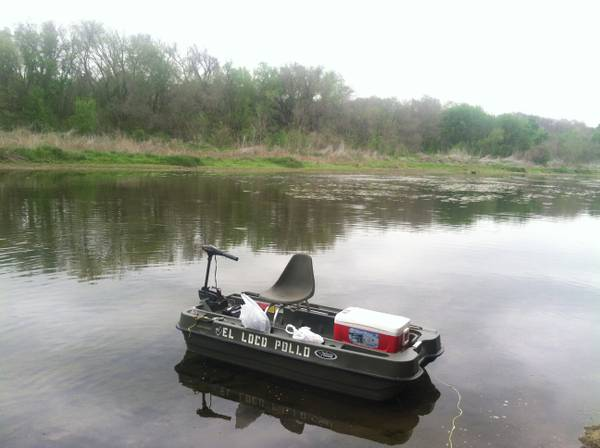 Pelican Pelican Bass Raider 8 Mini-Pontoon Fishing Boat - $350 (china spring)