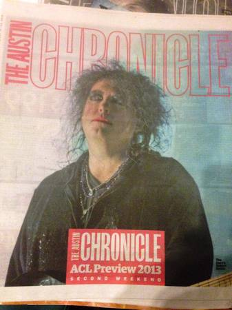ACL Austin City Limits Festival 2013 Preview Chronicle Issue-The CUre  -   x0024 10  waco