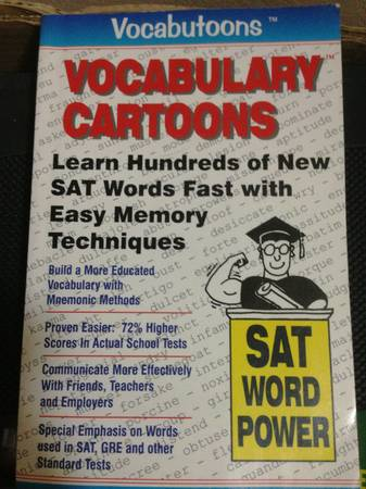 3 Books lot-Grammar GrabbersSAT ACT Prep Vocabulary CartoonPuntoons - $25 (obo waco)