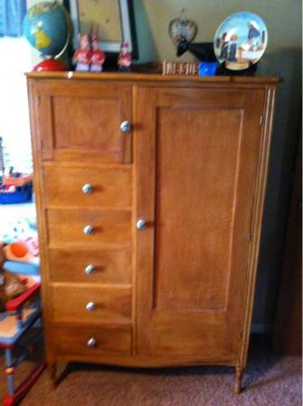 Antique Chifferobe (wardrobe) - $125 (Robinson)