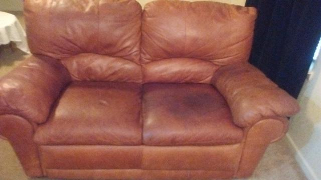 120  Italian leather loveseat