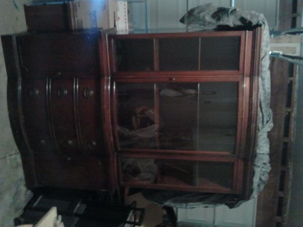 Cherry China Hutch For Sale
