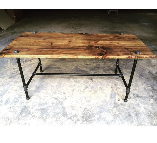 550  Industrial style dinner table