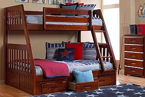 600  new twinfull bunk bed with under storage