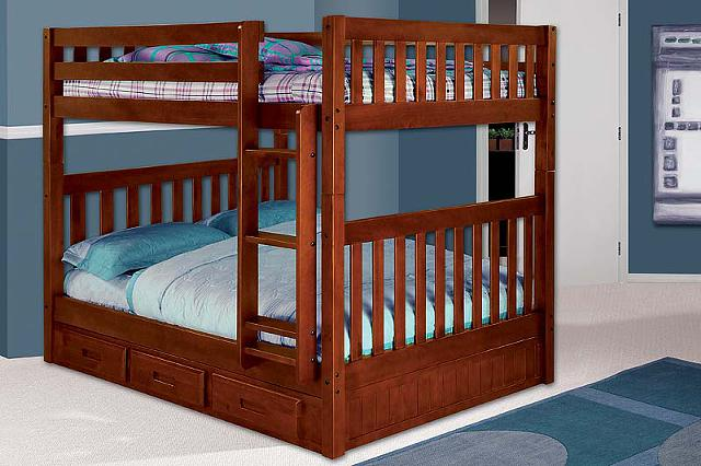 650  new fullfull bunk bed with under storage
