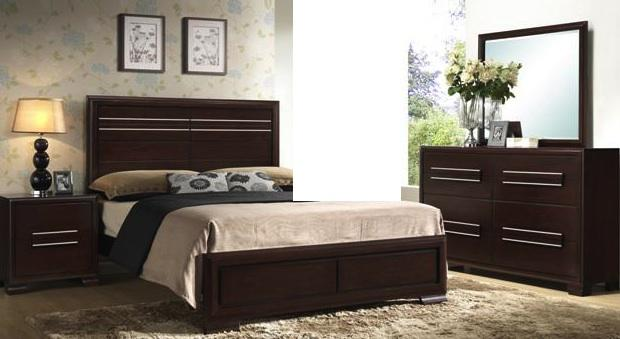 660  New solid wood bedroom set