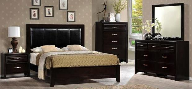914  New dark espresso bedroom set