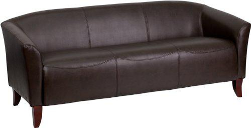Save  Check out this BrownCherry Leather Sofa on Sale