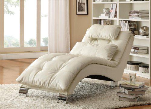 Save on our furniture  Check out this White Contemporary Chaise