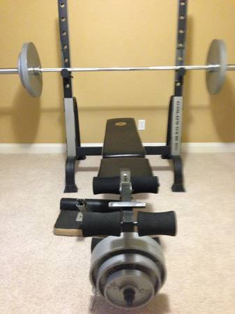 Golds Gym XR15 with weights - $155 (Woodway)