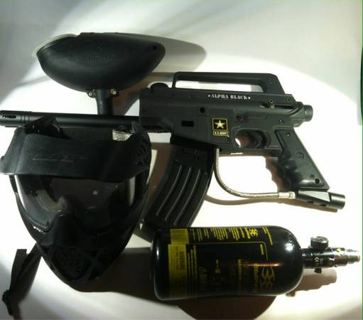 Tippman US Army alpha black tactical paintball gun - $75 (Wacotemple)