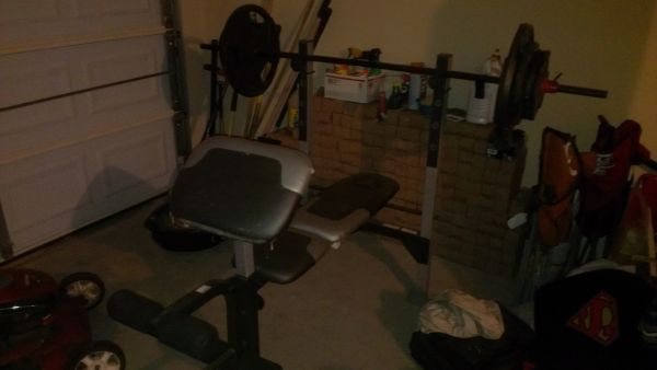 Golds Gym Weight Bench Set - $125 (Waco)