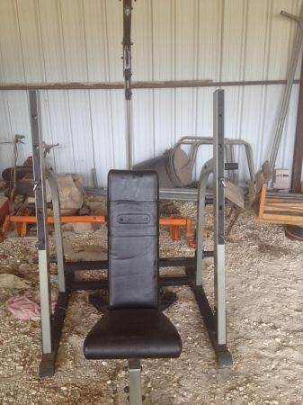 Nautilus weight benchsquat rackcurl and back bar with weights - $350 (Waco, TX)