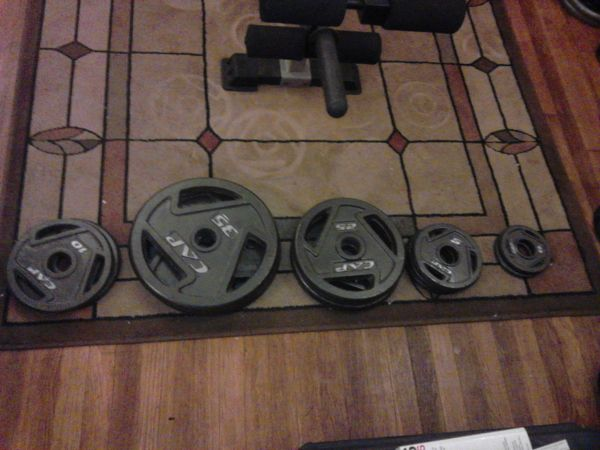 Golds Gym XR5 weight bench 160 lbs of weights $300 - $300 (Waco)