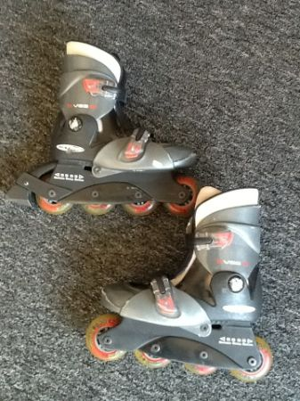 Boys Rollerblades Inline Skates Adjustable Size 13 to Size 3 - $15 (China Spring)