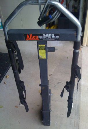 DELUXE Allen 540RR Receiver Bike Rack -- for 4 Bikes - $75 (WoodwayMcGregor)