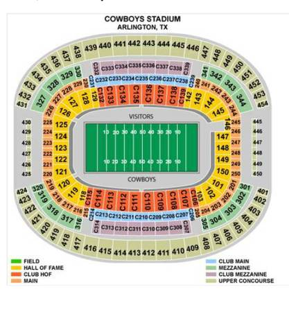 Gold Cup section 147 - $1 (cowboys stadium )