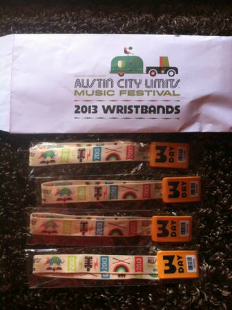 ACL 3-Day Passes Oct 11-13 in Hand Now - $200 (Central Texas)