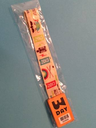ACL Festival Wrist Band 3 Day Pass - $225 (West Lake)
