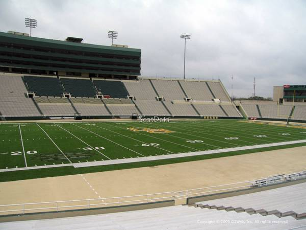 Baylor BU Bears UT Texas Longhorns 4 Tickets Student Side 12713 Sat - $175 (Section S Row 7)