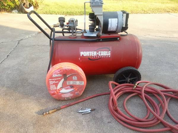 Porter Cable Jetstream 20 gallon 6hp 135psi Air Compressor - $175 (Woodway Texas)