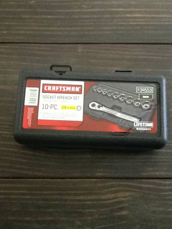 Craftsman 10 Piece Socket Wrench Set Standard 38 Drive 6 Point Sockets Sears - $20 (China Spring)