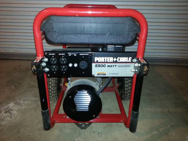 Porter Cable 5500 Watt Generator - $450 (Crawford)