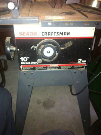 SEARS CRAFTSMAN TABLESAW DIRECT DRIVE - $150 (Waco, TX )