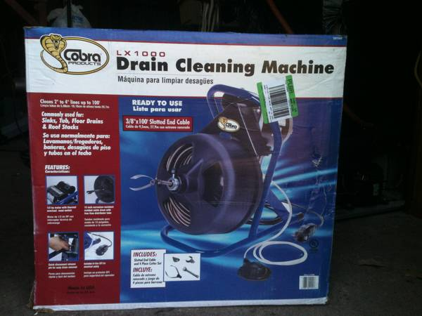 Cobra LX1000 Drain Cleaning Machine - $250 (Axtell)