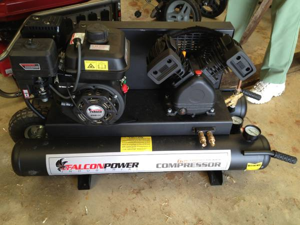 Brand New Falcon Power Industrial Gasoline Air Compressor - $575 (Malone)