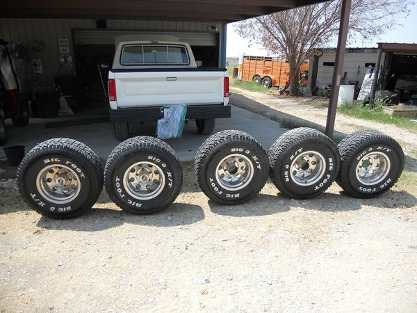 AMERICAN RACING 15 IN.  FORD PU WHEELS AND TIRES - $650 (Prairie Hill, Tx.)