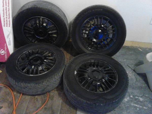16 blacked out wheels factorys chevy 200 obo - $200 (waco)