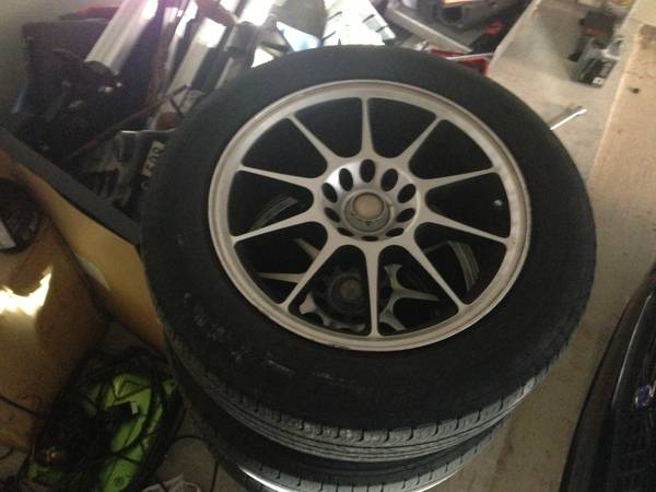 ICW 16in wheels 5x1005x108 with tires - $50 (Waco )