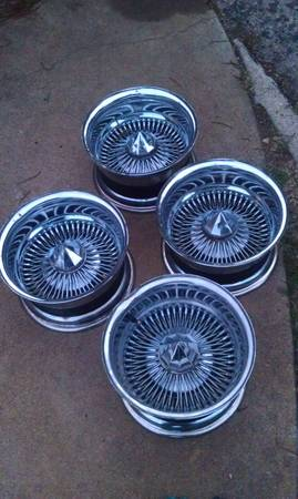 13 x 7 chrome spokes, lowrider rims - $300 (waco)