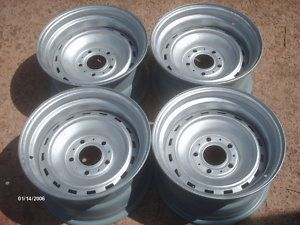 15x8 Chevy truck rally wheels (5 lug) - $100 (Bremond)