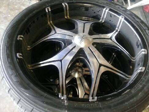 24 inch forte rims with tire - $1200 (waco texas)