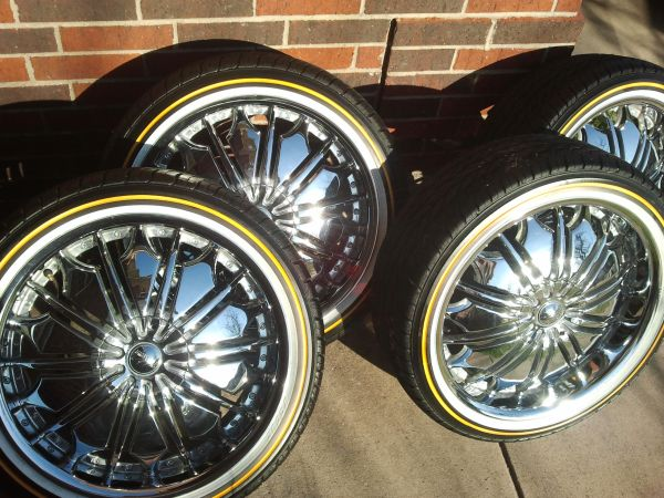 20 inch vogues and rims forCadillac or Buick - $1400