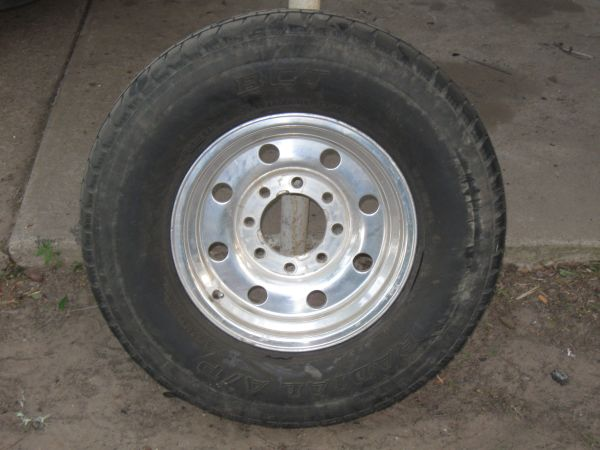 REDUCED 3 FORD 8-LUG ALUMINUM BULLET-HOLE WHEELS RIMS - $150 (MEXIA (254-562-9209)