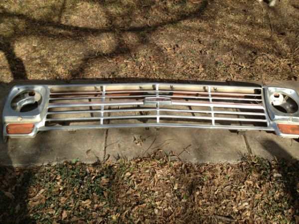 69 Ford Ranger Brushed Aluminum Grill - $350 (Valley Mills)
