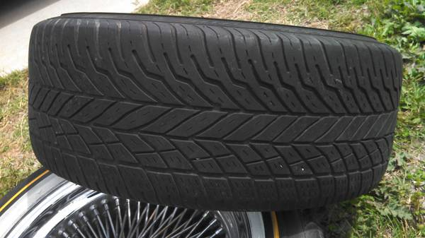 3-17 vogue tyres with wire wheels - $300 (waco)