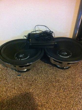 Kicker DX1000.1 and 2 Crossfire BMF1514s 15 subwoofers - $600 (waco)