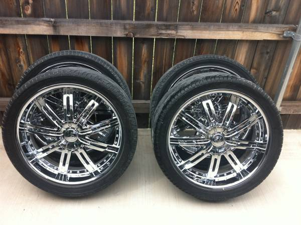 22in rims with tires - $700 (groesbeck)