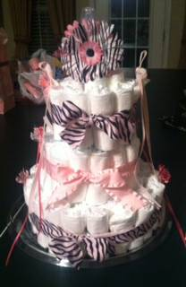 Baby Diaper Cake-perfect for Baby Showers   to order  delivery inc  -   x0024 50  Waco